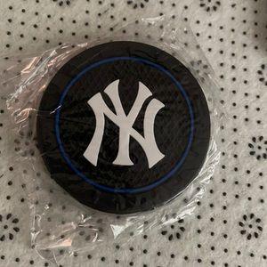 New Set/2 NY Yankees car cup mats